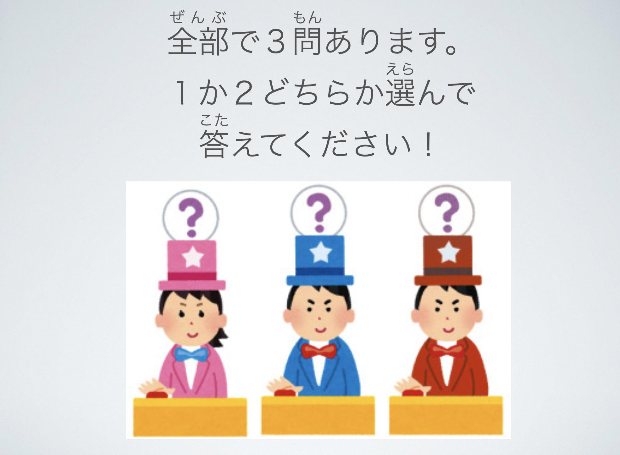 【スライド教材:絵本の読み聞かせ・体の部位の名称】クイズに挑戦!!