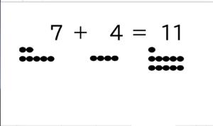 【プリント教材:足し算②】●と数字で足し算の学習をしよう