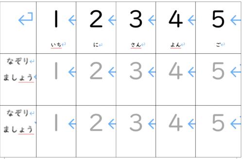 【プリント教材:1〜10の数字】数字の書き取り