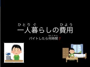 【スライド教材:進路学習⑤】一人暮らしにかかる費用をまとめよう