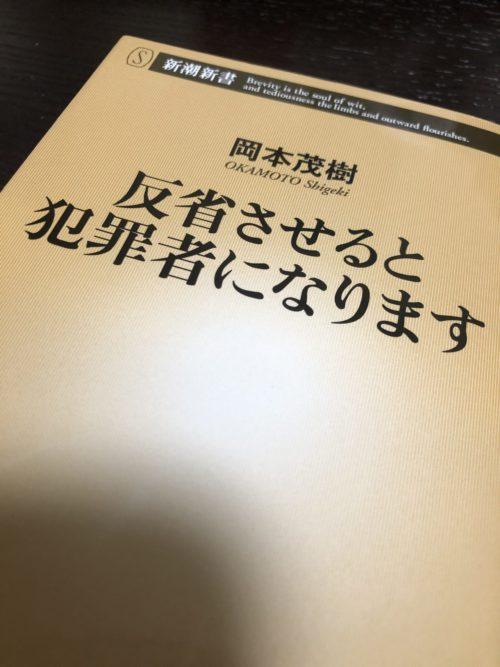 【書籍】『反省させると犯罪者になります』